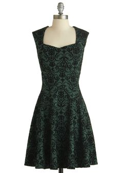 The Pine Room Dress. This item was picked by you in our Be the Buyer Program and will be sold exclusively online at ModCloth! #green #modcloth