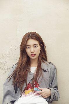 Suzy x Guess Bae Suzy, Korean Beauty, Asian Beauty, Korean Actresses, Actors & Actresses, Korean Celebrities, Celebs, Miss A Suzy, Low Maintenance Hair