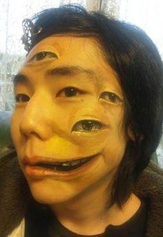 Japanese horror makeup. Eyes
