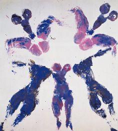 Yves KLEIN - Conceptual Art - New Realism - Blue - Anthropométrie suaire sans titre (ANT SU 7), ca. 1960