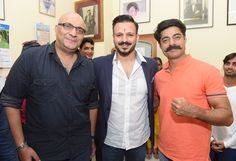 Amit Behl, Vivek Oberoi and Sushant Singh at the CINTAA health camp inauguration in association with CPAA
