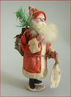 Early German Santa Candy Container. Photo via Ebay...#Repin By:Pinterest++ for iPad#