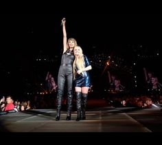 Singer-songwriters Taylor Swift and Avril Lavigne performs onstage during Taylor Swift The 1989 World Tour Live In San Diego at PETCO Park on August 29, 2015 in San Diego, California.