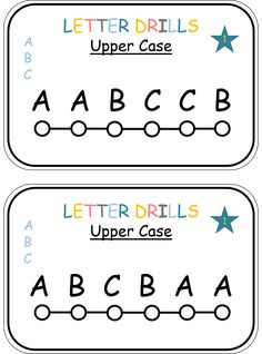 Flower Alphabet Puzzles (from Childcareland)...can do with
