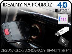 TRANSMITER FM ZESTAW GŁOŚNOMÓWIĄCY BLUETOOTH USB
