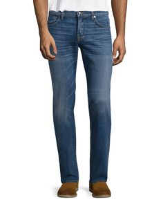 Luxe Performance: Standard Halogen Jeans, Light Blue, Size: 31, Hlgn - 7 For All Mankind