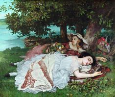 Gustave Courbet, Young Ladies on the Banks of the Seine (Summer), 1856. Oil on canvas, 174 x 200 cm. Musée du Petit Palais, Paris Courbet's Young Ladies on the Banks of the Seine (Summer) shows... Seekrs