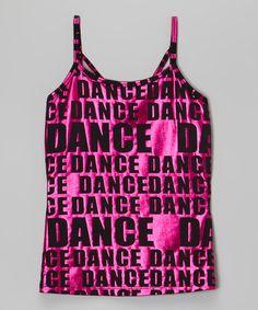 Look at this #zulilyfind! Pink 'Dance' Tank - Girls & Women #zulilyfinds