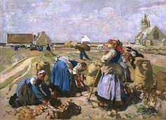 lucien simon - la récolte des pommes de terre