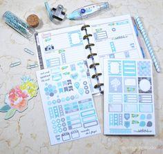 Mini Happy Planner - Sea Glass Blue Planner Stickers - Vintage Glam Studio