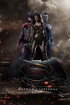 Batman vs Superman - DC Trinity (Wonder Woman) by davidsobo