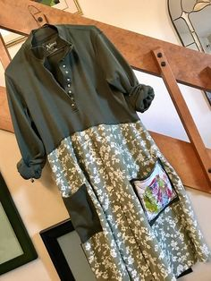 Upcycled Women's Clothing Repurposed dress casual and comfy