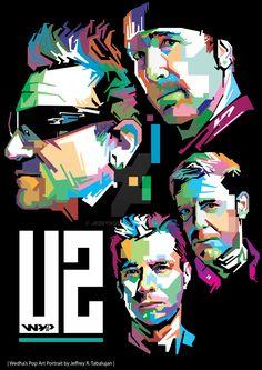 Random Promotion And Poster Art U2 Poster, Pop Art Poster, Rock Poster, Poster Prints, U2 Music, Good Music, U2 Logo, Larry Mullen Jr., U2 Band