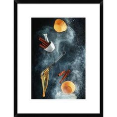 """Global Gallery 'Kitchen Mess: Cinnamon Cupcake' by Dina Belenko Framed Photographic Print Size: 24"""" H x 18"""" W x 1.5"""" D"""