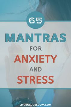 Using a mantra, especially as part of meditation, can help clear your mind and release negative thoughts. Enjoy our list of mantras for anxiety. Mantras For Anxiety, Anxiety Tips, Anxiety Help, Stress And Anxiety, Health Anxiety, Natural Anti Anxiety, Natural Stress Relief, List Of Mantras