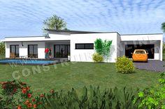 plan de maison monopente ETNA 2