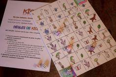 Jeu de société bricolé! Un super projet D.I.Y. pour les enfants.