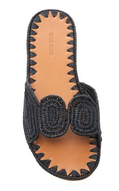 raffia and leather summer slides sandals