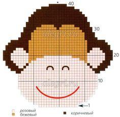 Tina's handicraft : 8 designs kitchen accessory Kitchen – home accessories Crochet Potholders, C2c Crochet, Tapestry Crochet, Crochet Home, Crochet Applique Patterns Free, Knitting Patterns, Crochet Monkey, Monkey Pattern, Corner To Corner Crochet