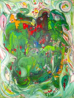 Artwork >> Jürgen Grafe >> THE GREEN PLANET EARTH #artworks, #green, #planet, #masterpiece, #oiloncanvas, #earth,
