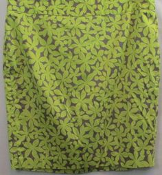 Lane Bryant Plus Size Lime Green and Gray Floral Pencil Skirt Size 20 #LaneBryant #StraightPencil