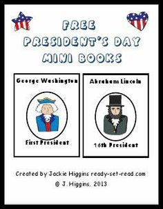 Free Printable President's Day Mini Books for early readers