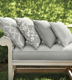 OUTDOOR LIVING | Sylvan Leaves Fabric by Thibaut | Jane Clayton