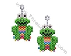 Rainbow Frog Earring Bead Pattern By ThreadABead