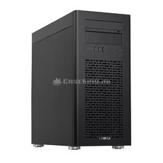 """Lian Li PC-90B Big-Tower in schwarz. Das PC-90 mit dem Spitznamen """"The Hammer"""" gehört zu der Hand voll Cases, die sogar die derzeit größten Mainboards im HPTX-Format aufnehmen können. Das ist deshalb nicht selbstverständlich, weil es mit einem HPTX-Board gerne mal kneift im Gehäuse. Mit dem PC-90 kneift nichts, höchstens der Betrachter die Augen vor Verwunderung zusammen: Wie passen riesige Mainboards in den kleinsten aller Big-Tower?"""