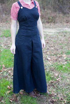 Reproduction Vintage Style Demin Overalls $110