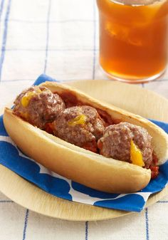 """Cheesy Volcano Meatballs — The kids will love the melted cheese """"erupting"""" from the top of these meatballs."""