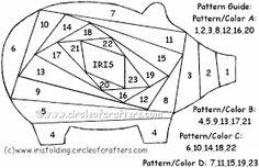 iris folding templates animals - Google Search