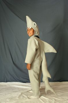 Shark Costume size 7/8as seen on parentingcom2nd by LauriesGift, $42.00