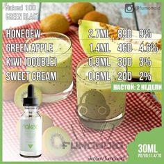 Naked 100 (Green Blast) - это яркое сочетание трех сбалансированных вкусов. Поробуйте гладкую и тонкую сладость медового нектара, хрустящю сочную терпкость зеленых яблок, и яркие, пикантные, кремовые нотки киви