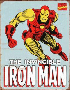 Iron Man Retro Vintage Poster #vintage #poster