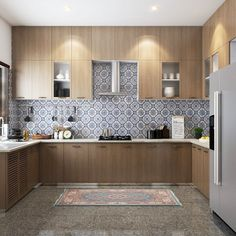 This U-shaped modular kitchen is perfect for you! Interior Design Kitchen, Interior Decorating, Be Perfect, Double Vanity, Interiors, Shapes, Luxury, Cooking, Instagram