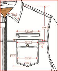 Pant pocket - Best Sewing Tips Tailoring Techniques, Techniques Couture, Sewing Techniques, Mens Sewing Patterns, Clothing Patterns, Sewing Tutorials, Mens Shirt Pattern, Pants Pattern, Flat Sketches