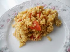 JÁHLY  S PEČENOU ZELENINOU Raw Vegan, Vegan Food, Vegan Vegetarian, Vegan Recipes, Polenta, Risotto, Ethnic Recipes, Bulgur, Vegan Sos Free