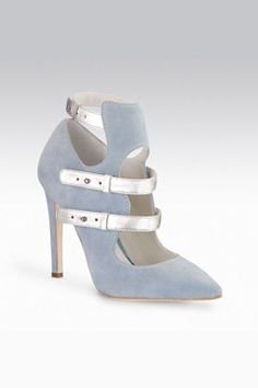 Gio Diev blue pastel booties, fall 2013