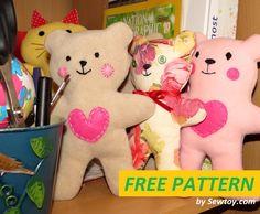 Bambino Teddy bear modello gratuito per un facile cucire