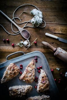 roasted pear & cranberry chocolate chunk scones by Beth Kirby   {local ...