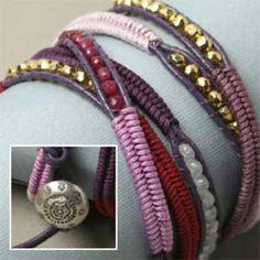 Herringbone Wrap Bracelet- Fresh Berries – Beadshop.com