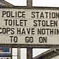 Bathroom Humor: Cops have nothing to go on!!! LOL