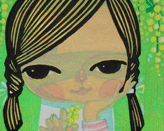 可愛らしい子供等、センチメンタルな独特の画風の「池田修三」氏の素敵な木版画が我が...