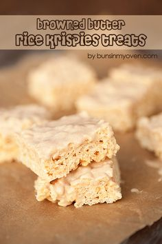 Browned Butter Krispies Treats
