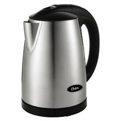 Make the perfect cup of tea with this Oster Digital Electric Kettle. Easy to use controls allow you to set the kettle to any one of 11 temperature settings from 110-212 degrees Fahrenheit. The brushed stainless steel finish gives this kettle a modern look. Featuring an automatic shutoff, a hinged locking lid, a power light and a water window, the kettle stores up to 1.7 liters of piping hot water.