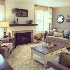 Living Room Farmhouse Style Decorating Ideas 26