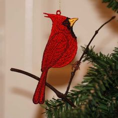 Cardinal ( Free Standing Ornament) Sonia Showalter Designs. She also has BlueJay, Hummingbird, Chickadee, lots more.