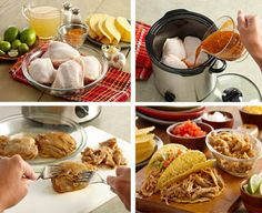 Crockpot Lime Garlic Chicken Tacos Recipe