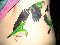 cool 25 Cheerful Love Bird Tattoos